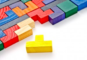 colorful wooden puzzle